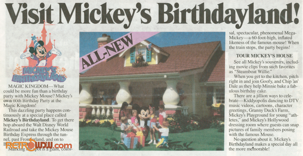 Visit Mickey's Birthdayland