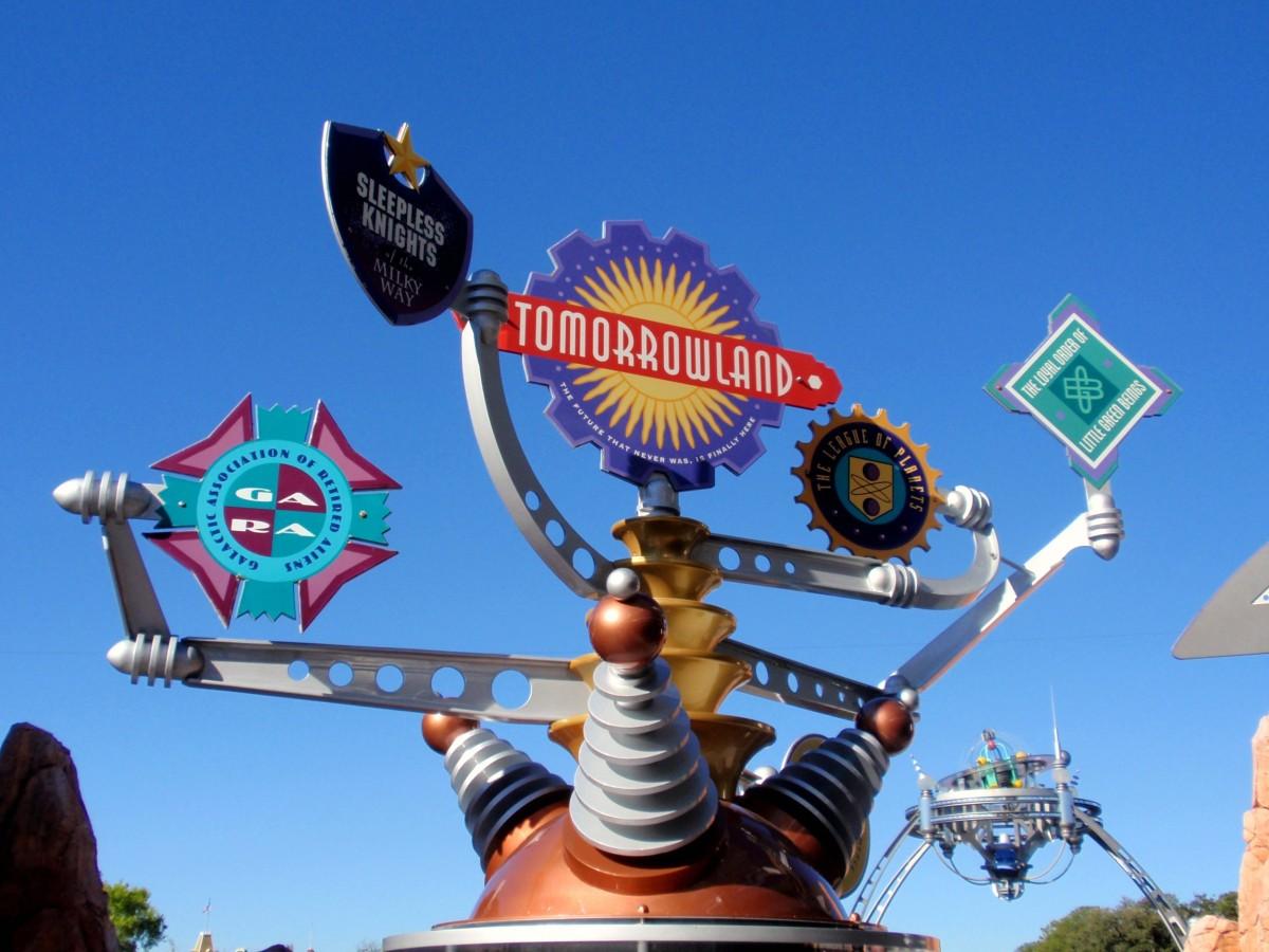 New Tomorrowland Sign
