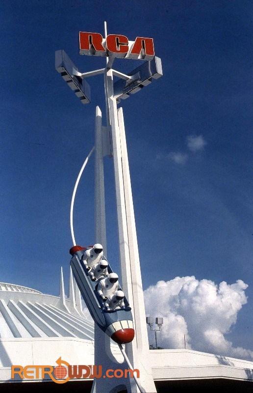 Tomorrowland Space Mountain RCA Sign
