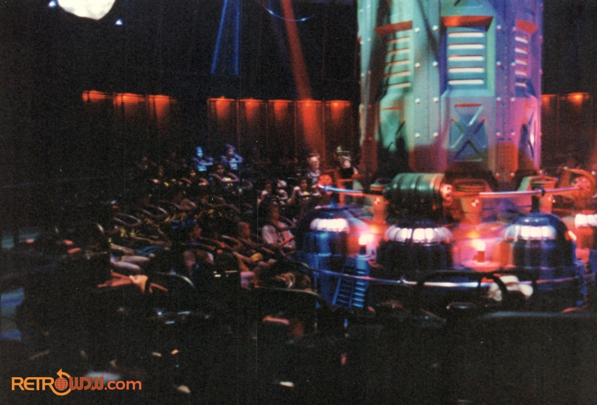 Inside the Main Show Room of Alien Encounter with the Transportation Tube Shield Down