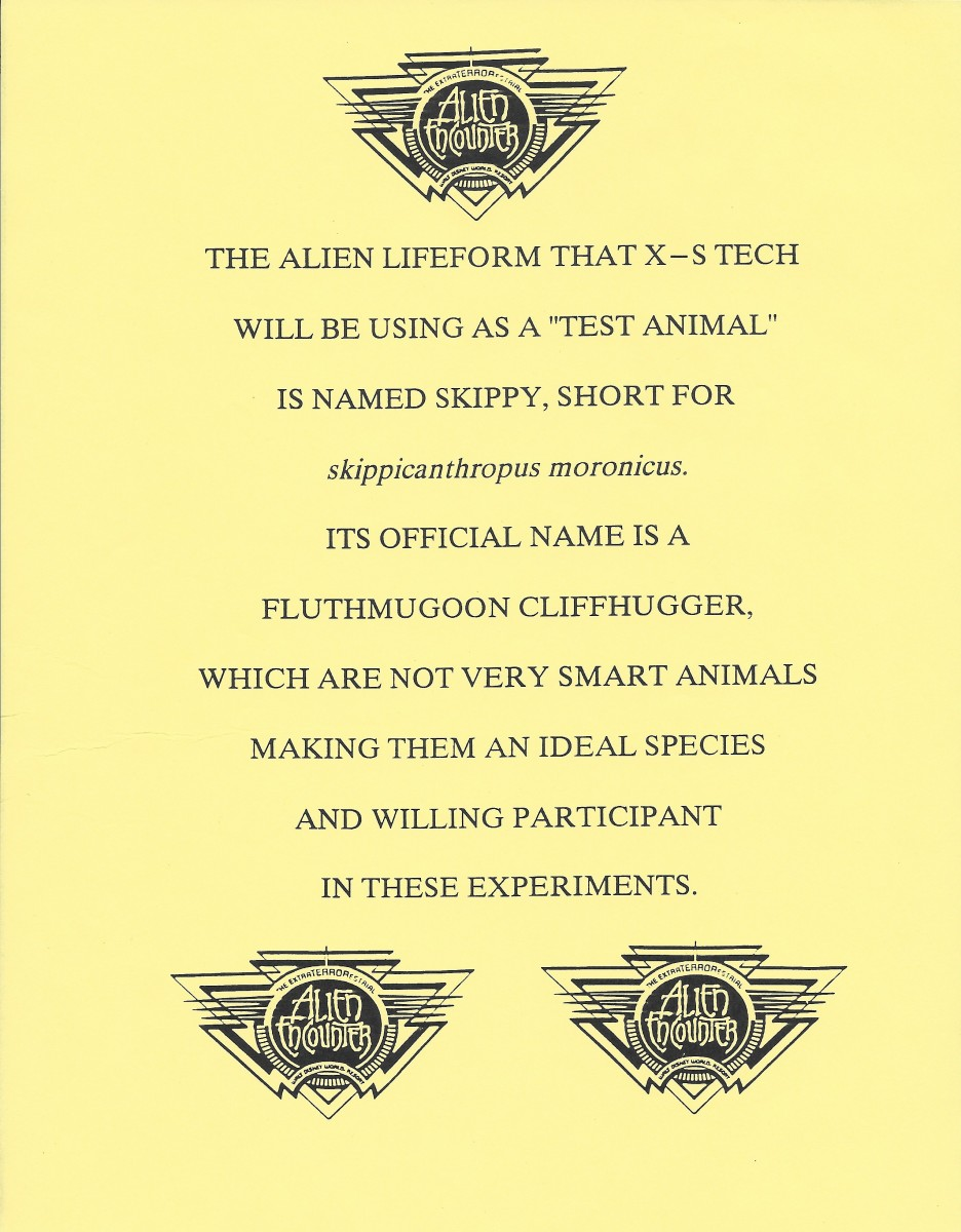 Alien Encounter Pre-Opening Flyer 7