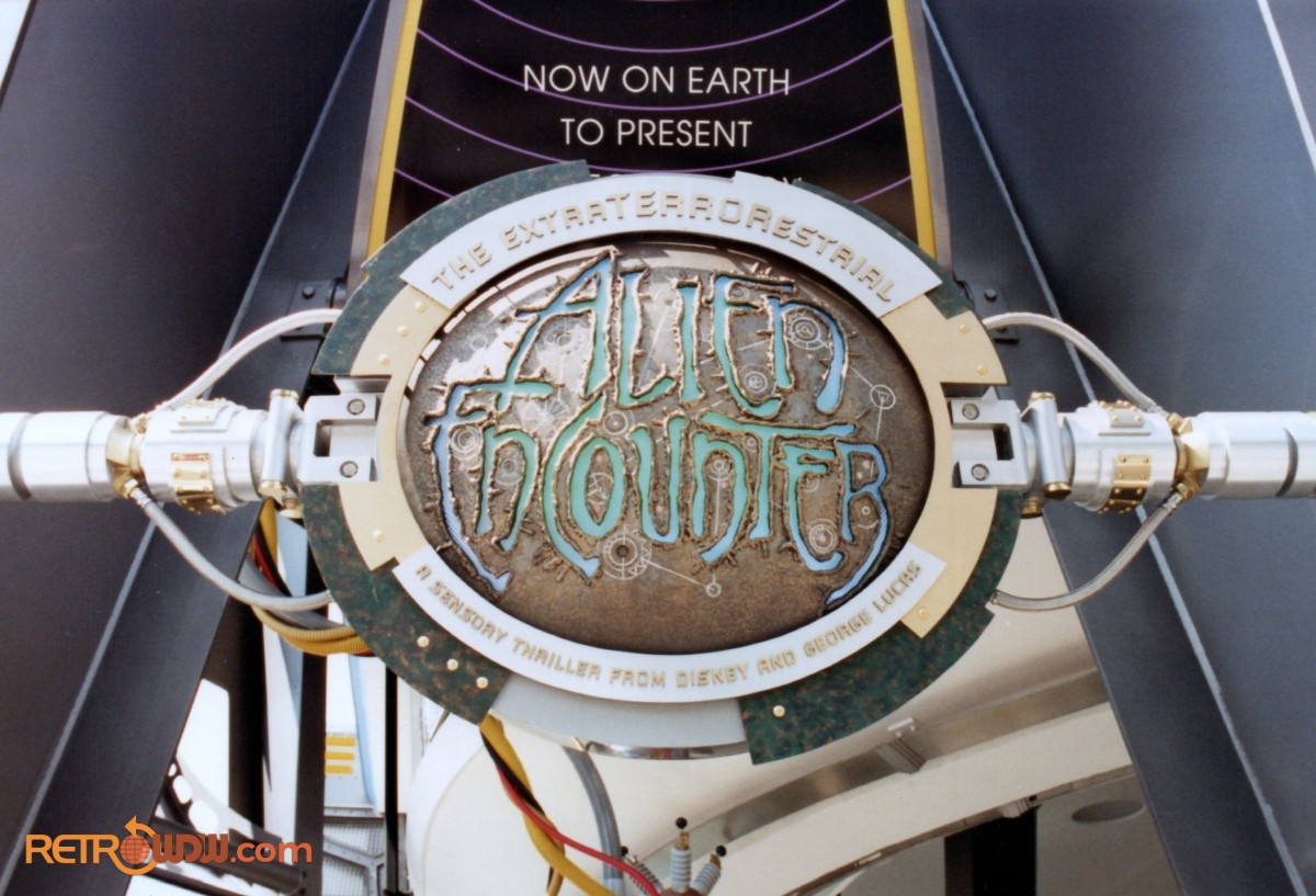 XS-Tech Alien Encounter Entrance Sign During Construction