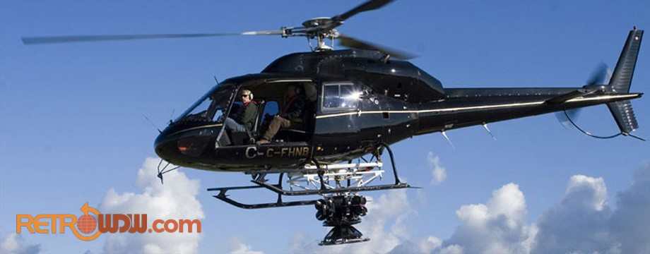 Circle-Vision 360° Camera suspended from a helicopter