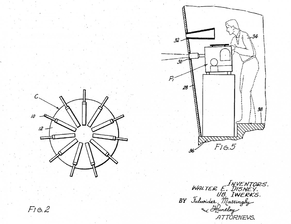 Patent 2942516 - Panoramic Motion Picture Presentation Arrangement (Circlevision) 1956-1960 FIG-02