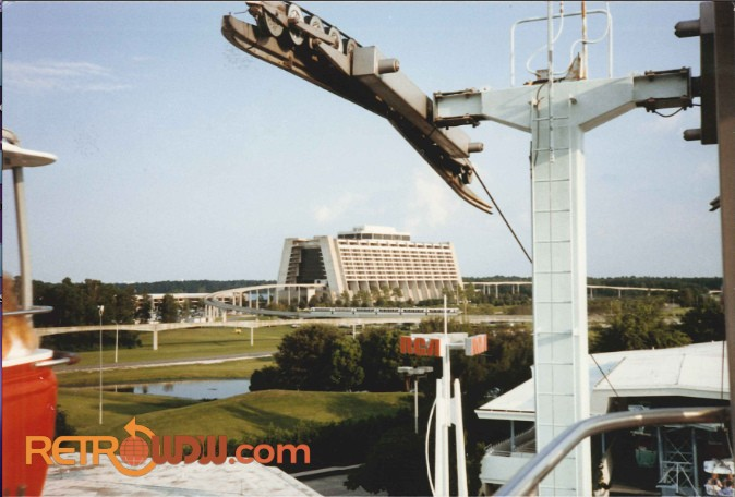 Tomorrowland Skyway Pylon and Station