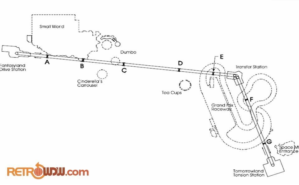Magic Kingdom Skyway Pylon Location and Path