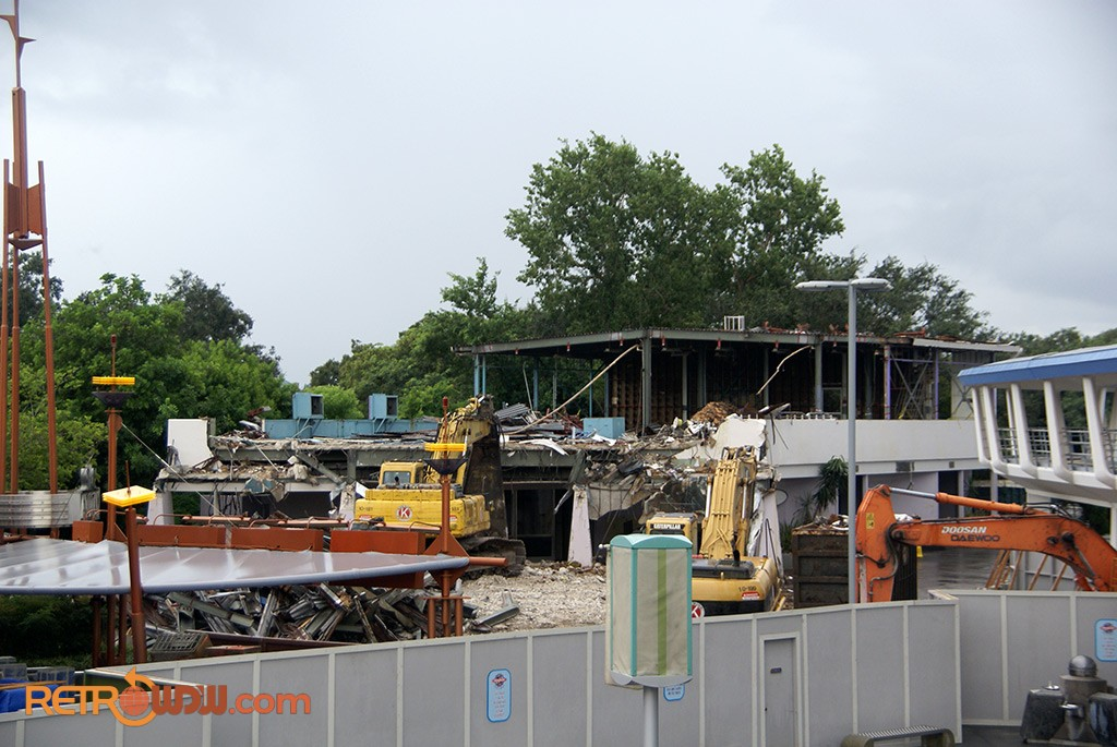 Tomorrowland Skyway Station Being Torn Down