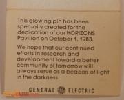 EPCOT Horizons Pavilion Dedication Glowing Pin 4
