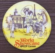 World Showcase Pinback Button