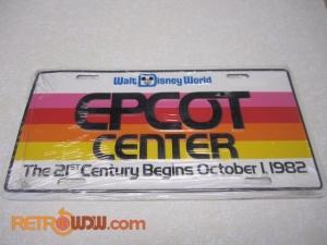 Epcot License Plate - 21st Century