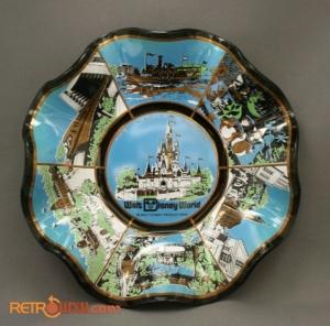 WDW Glass Dish 70s