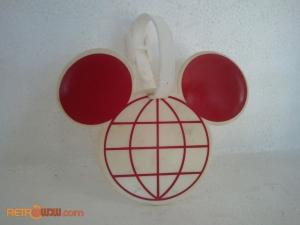 Mickey Globe Luggage Tag