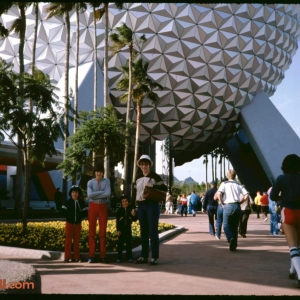 Epcot Entrance and Spaceship Earth