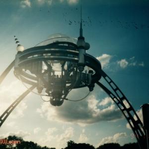 Tomorrowland Entrance Sign Daytime
