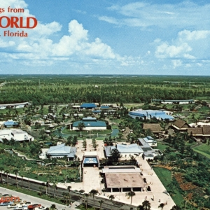 Aerial view of Sea World postcard