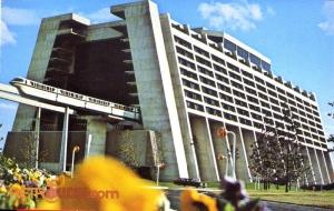 Contemporary Resort Postcard