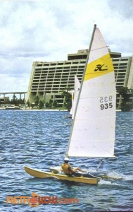 Sailing the Lagoon Postcard