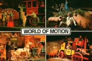 Postcard featuring scenes from World of Motion
