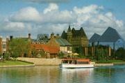 Epcot Center Postcard: Friendship Boat On World Showcase Lagoon