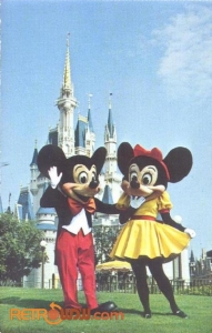 Mickey and Minne Postcard