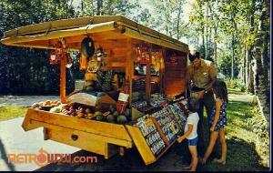 Food Wagon Postcard