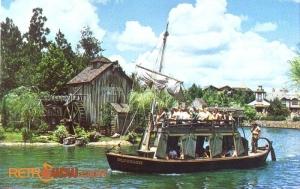 Mike Fink Keel Boats Postcard