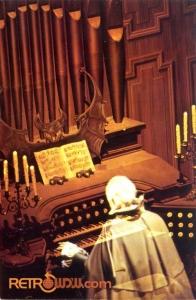 Haunted Mansion Organ Postcard