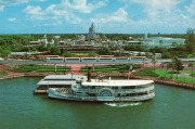 Southern Seas docking at the Magic Kingdom with Monorail