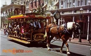 Main Street Trolly Postcard