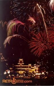 Main Street USA Fireworks Postcard