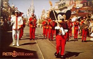 Mickey on Main Street USA Postcard