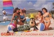 Goofy on Polynesian Beach Postcard