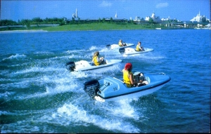 Boats on Bay Lake Postcard