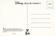 Disney MGM Studios back of postcard