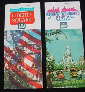 Main Street USA and Liberty Square Postcard Books