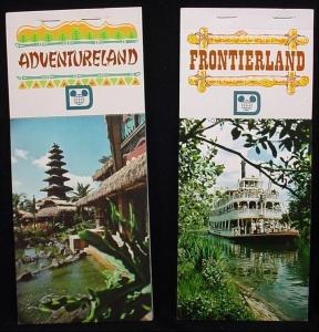 Adventureland and Frontierland Postcard books