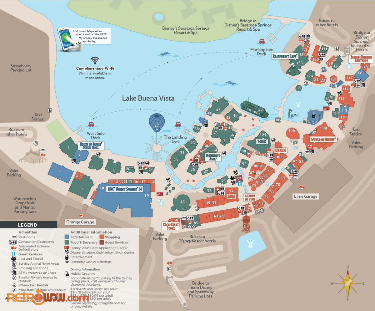 Disney Springs Area Map (2018)