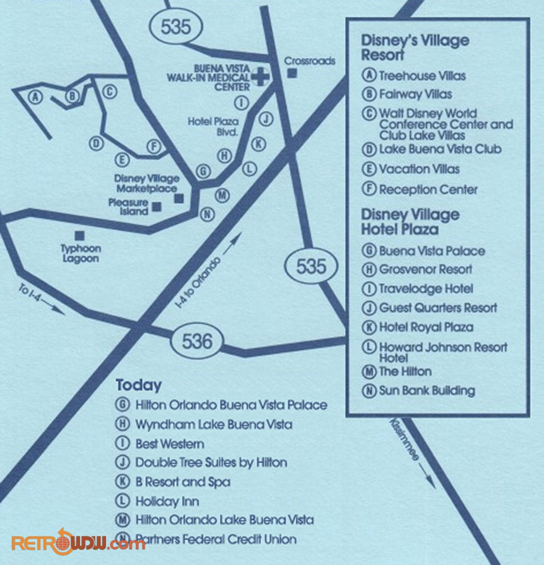 Lake Buena Vista Map