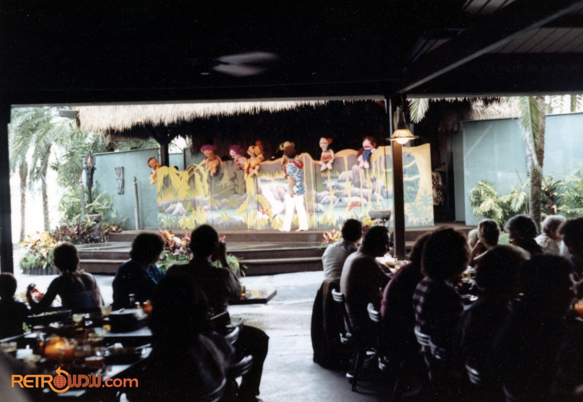 Puppet Show at the Polynesian Village Resort in 1980