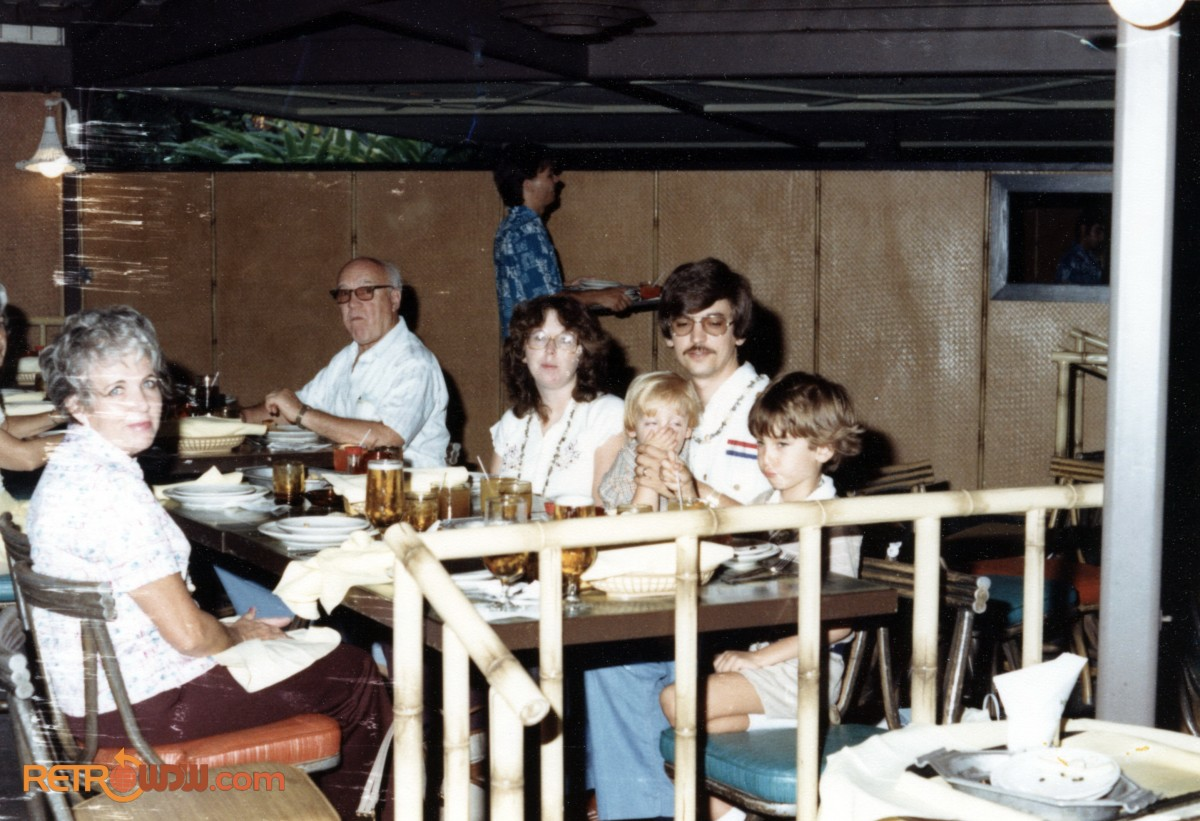 Todd & Family at Polynesian Village Resort 1980