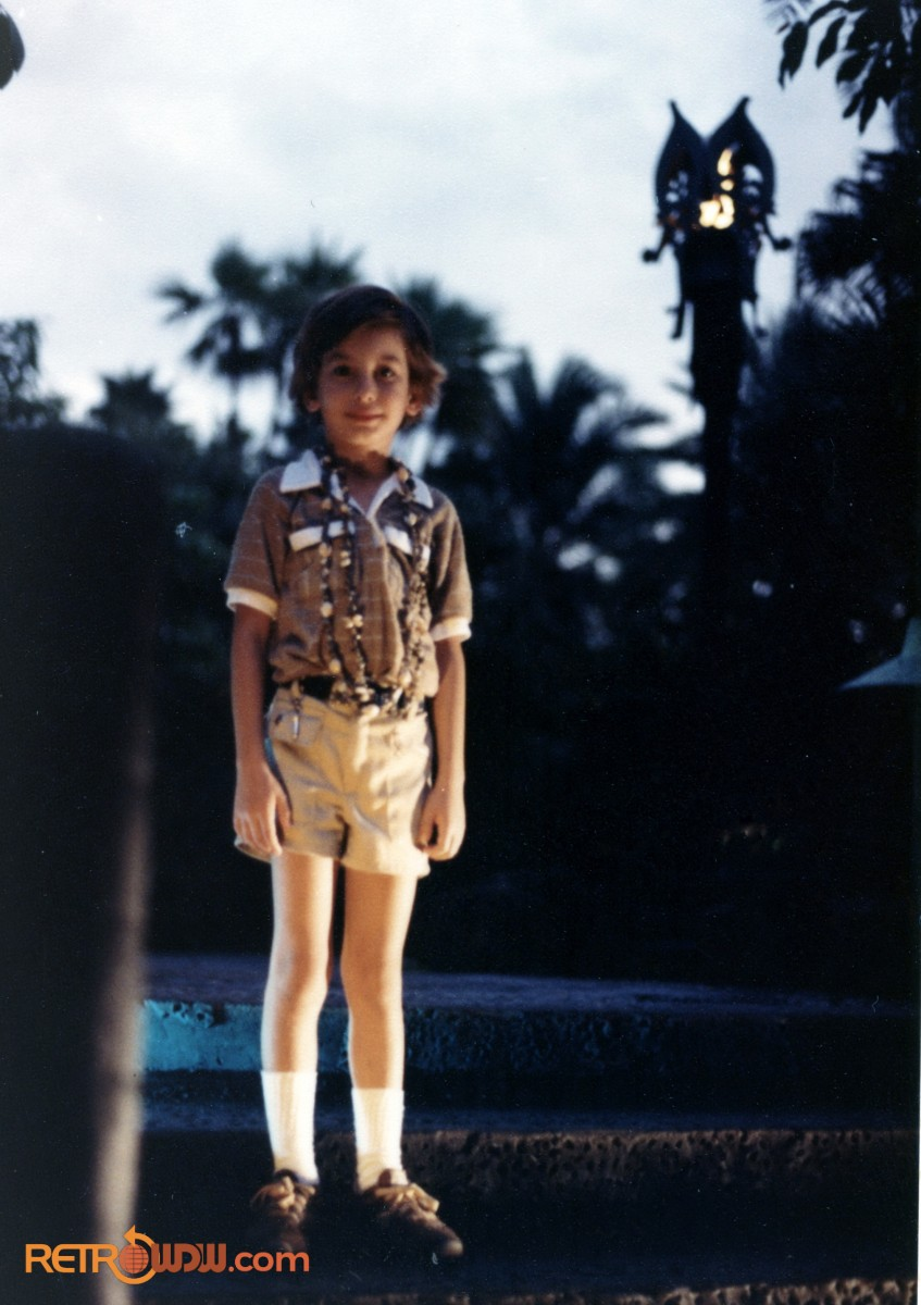 Todd at the Polynesian Village Resort in 1980