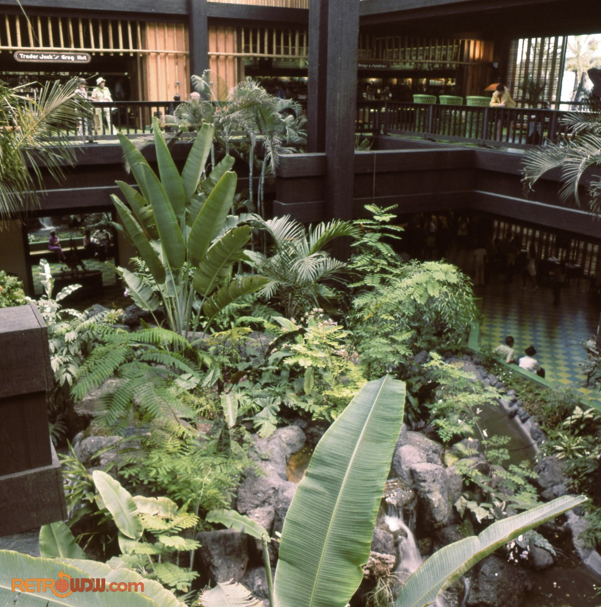 Polynesian Village Lobby - Plants are Focal Point in Lobby
