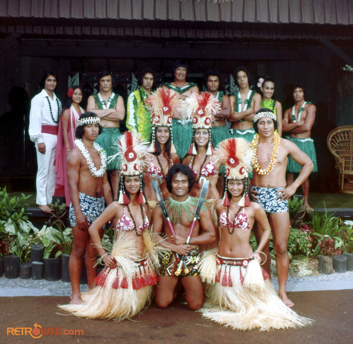 Luau Dancers-Colorful Costumes