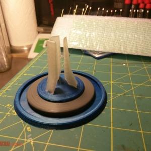 Epcot Pylon Fountain Replica