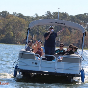 Brian and Rob and guests on the 2016 Lake & Lagoon Tour