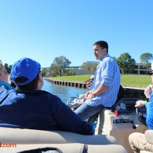 "Todd, ""Captain"" JT and guests on the 2016 Lake & Lagoon Tour"