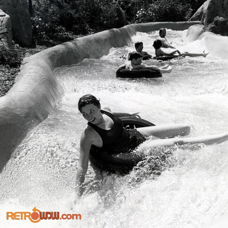 People of all ages enjoy the White Water Rapids ride on July 15, 1979