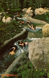 Guests going down the White Water Rapids