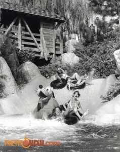Pluto enjoys the White Water Rapids at River Country