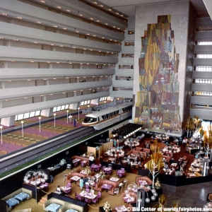 Monorail in Lobby